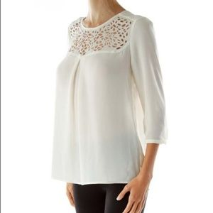 HD in Paris | White Lacy Blouse
